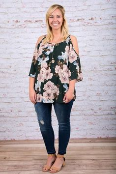 Day Date Blouse, Hunter Green
