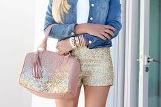 #bag #clothes #fashion #girl #glitter #hair #nails #outfit