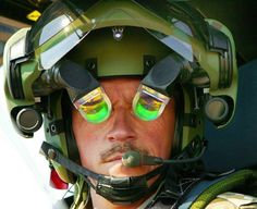 The helmet used by Eurocopter Tiger helicopter pilot