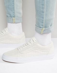 Vans | Vans Old Skool Checkerboard Trainers In White V004OJJT5 (u old skool white)