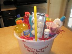 I made a senior week survival kit for a graduation present :)