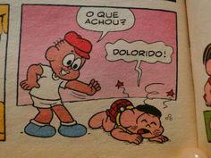 PORRA, MAURÍCIO!!! PORRA, CASCÃO!!! TANTO MENINO NO BAIRRO E VAI LOGO PEGANDO O JEREMIAS!!! SE VAI COMEÇAR, COMEÇA COM ALGO MAIS LEVE, PORRA!!! (Imagem via Micaela)
