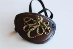 steampunk leather eyepatch octopus by steampunkleatherwork