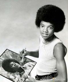 Michael Jackson - Eric Skipsey Photoshoot 2, 1972 - Cuteness in black and white ღ by ⊰@carlamartinsmj⊱
