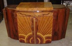 Spectacular Art Deco Forms Sideboard Buffet | eBay