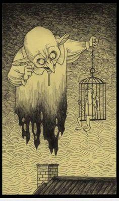 Horror artwork by John Kenn Mortensen