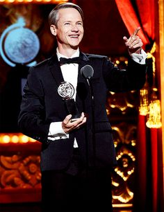 """"""" John Cameron Mitchell accepts a Special Tony Award for Lifetime Achievement in the Theatre onstage at the 2015 Tony Awards at Radio City Music Hall on June 2015 in New York City. Amazing People, Good People, John Cameron Mitchell, Tony Award, Lifetime Achievement Award, Radio City Music Hall, Hedwig, Yuri On Ice, Musical Theatre"""