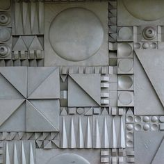 theimportanceofbeingmodernist: Geometric Fibreglass relief, Commercial Road, London. © 2015 Alex James Bruce The Importance of Being Modernist : Facebook | Twitter | Instagram