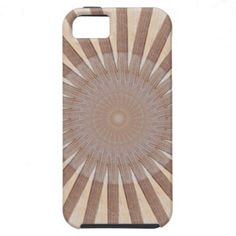"""Striped Wooden Sunburst iPhone 5 Case - Created using our perfected """"Sun Deck"""" design technique that only """"we"""" know how to do! #iphone #wood #zazzle"""