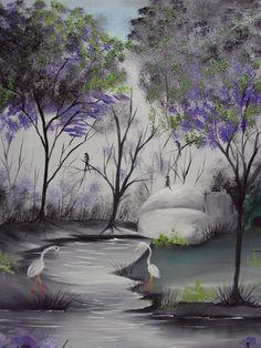 Pintura em Tela: Dia de Pesca. Nosso amigo e parceiro do Blog o artista plástico Sérgio Ferrer, preparou um passo a passo pra você de uma linda tela!