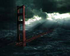 Sad End Of Love Wallpaper End of Love Images Pictures Photos Sci Fi Wallpaper, Storm Wallpaper, Love Wallpaper, Wallpaper Backgrounds, Tsunami, Art Apocalypse, Golden Gate Bridge Wallpaper, Ponte Golden Gate, Post Apocalyptic Art