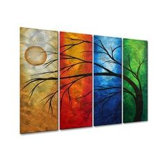All My Walls In Living Color Metal Wall Sculpture