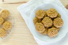 Galletas de Zanahoria y Avena Healthy Treats, Healthy Desserts, Healthy Recipes, Healthy Food, Baby Food Recipes, Diet Recipes, Recipies, Light Desserts, Tasty