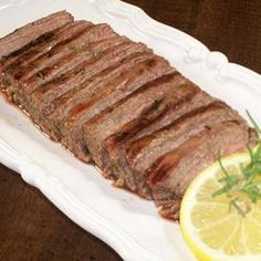 Tuscan Flank Steak Allrecipes.com  MY uncle made this and I remember how great it was.