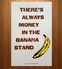 Arrested Development Banana Stand Letterpress Print by Western New York Book Arts Center on Scoutmob Shoppe B B Chamberlin Rainey Jenkins Jenkins Rainey Photography Arrested Development Quotes, Stand Quotes, Most Popular Quotes, Letterpress Printing, Silhouette, Wise Words, I Laughed, Book Art, Laughter