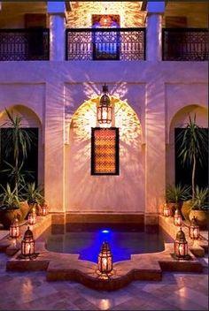 Moroccan-style; so beautiful.