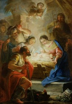 """""""Adoration of the Shepherds"""" by Mariano Salvador Maella"""