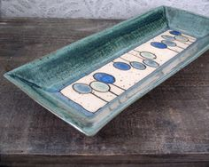Minimal Trees Bread Tray  Ceramic Platter with by LaPellaPottery, $38.00