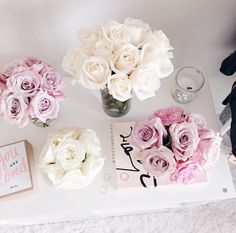white and lavender roses on the coffee table Flower Boxes, My Flower, Bloom Where You Are Planted, Girly, Lavender Roses, Spray Roses, Flowers Nature, Decoration, Planting Flowers