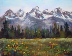 teton mountains paintings - Google Search