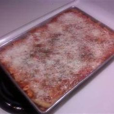 Baked until bubbly with spaghetti sauce, cheese, and sausage, this is a ziti with a lot of flavor.