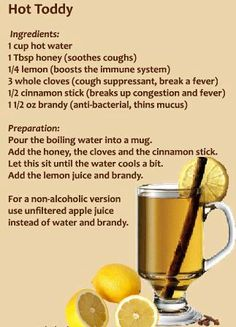 Great Relief!   ....You can use Whiskey in place of Brandy, which opens up the bronchials and blood vessels.   (Found on FB)
