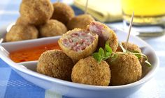 Receita de bolinho de batata com salsicha