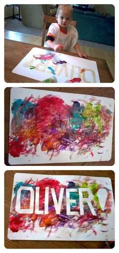 Easiest craft ever. and the results are super cute! - Beckett Baby Name - Ideas of Beckett Baby Name - Easiest craft ever. and the results are super cute! Easy Diy Crafts, Creative Crafts, Diy Crafts For Kids, Kids Name Art, Craft Projects, Projects To Try, Artists For Kids, Halloween Crafts For Kids, Toddler Activities