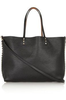 You had me at REVERSIBLE! Valentino The Rockstud medium reversible leather tote | NET-A-PORTER
