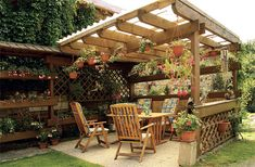 Precious Tips for Outdoor Gardens - Modern Outdoor Living, Outdoor Decor, Back Patio, Outdoor Gardens, Projects To Try, Miniatures, Backyard, Outdoor Structures, Cabin