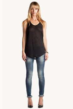 Black Linen Tank Top ~Anine Bing $69  http://www.aninebing.com/products/copy-of-blue-top-2