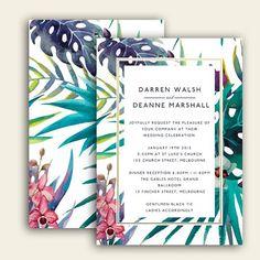 Os convites tropicais estão em alta, especialmente para casamentos na praia. Para inspirar os noivos, selecionamos 20 lindas inspirações!
