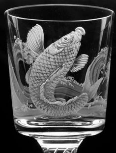 Picture of How can I engrave a drawling or initials into glass for cheep?