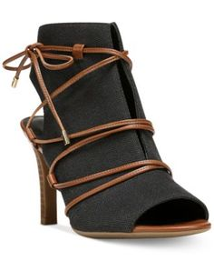 Franco Sarto Quinera Peep-Toe Lace-Up Sandals $105.99 Cosmopolitan chic. Franco Sarto's Quinera sandals combine a ghillie lace design and sophisticated silhouette.