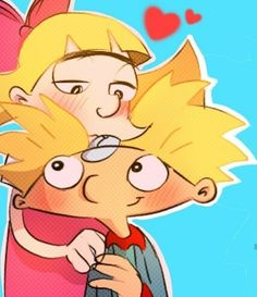 Arnold And Helga, Old School Cartoons, Hey Arnold, Programming For Kids, Cartoon Drawings, Cartoon Network, Kawaii, My Man, It Hurts