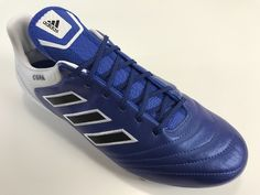 SR4U Grid Blue Premium Replacement Soccer/Football Laces on adidas Copa 17.1