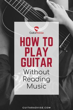Learn exactly how to play guitar without reading music. guitar How to Play Guitar Without Reading Music Guitar Chords For Songs, Music Guitar, Playing Guitar, Learning Guitar, Music Music, Guitar Strumming, Learn Guitar Online, Online Guitar Lessons, Music Lessons