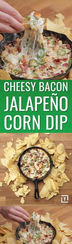 Cheesy Bacon Jalapeño Corn Dip
