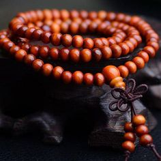 108 Beads Vintage Sandalwood Buddhist Meditation Bracelet