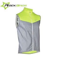 ROCKBROS Sleeveless Cycling Rain Jackets Men Rainproof Bike Jackets Wind Coat Windproof Downhill MTB Bicycle Jackets Gilet Vest