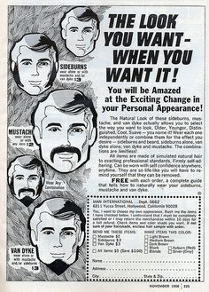 """The Look You Want – When You Want It!"", 1968"