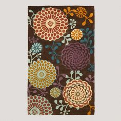 Kimono Print Micro Jute Rug from World Market $39.99 Want instant on-the-cheap wall art? Hang a decorative rod on the wall and use curtain ring-clips to hold the rug onto the rod. It's a great idea; I've done it in my own home.