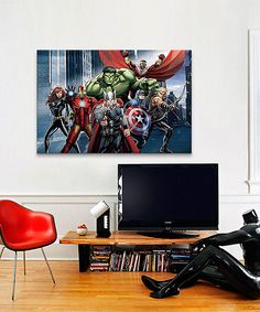 Love this Black Widow & Iron Man Gallery-Wrapped Canvas by Avengers on #zulily! #zulilyfinds