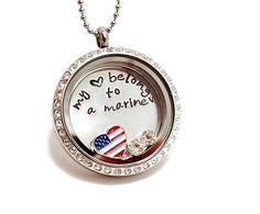 Floating Charm Locket/ Memory Locket / Living Locket Necklace on Etsy, $42.00
