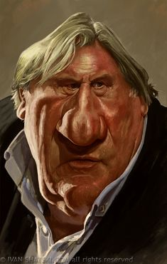 Gerard Depardieu by Iván Shatski