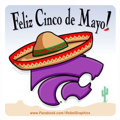 Cinco de Mayo K-State Powercat posted on my Robel Graphics Facebook page.