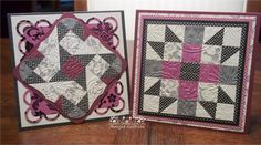 I was on a Quilted Card kick a few weeks ago. So I got out my DCWV Black Currant Stack and 3/4 inch square punch and had some fun. I init...