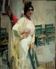 The Museo Sorolla in Madrid is dedicated to the works of the Spanish impressionist painter Joaquin Sorolla Spanish Painters, Spanish Artists, Figure Painting, Painting & Drawing, Valencia, Art Espagnole, Claude Monet, Portraits, Oil Painting Reproductions