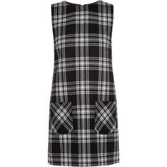 Karl Lagerfeld Punk tartan wool mini dress (690 BRL) ❤ liked on Polyvore featuring dresses, vestidos, black, short dresses, mini, wool mini dress, wool dress, tartan mini dress and mini dress