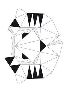 Mascaras de papel tridimensionais